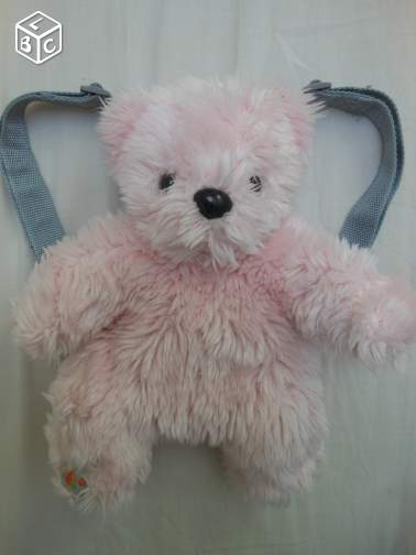 PETIT SAC A DOS OURS ROSE (mady)