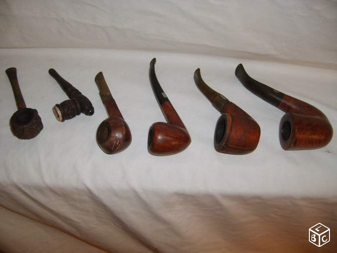 Lot de 6 pipes ROPP + cendriers