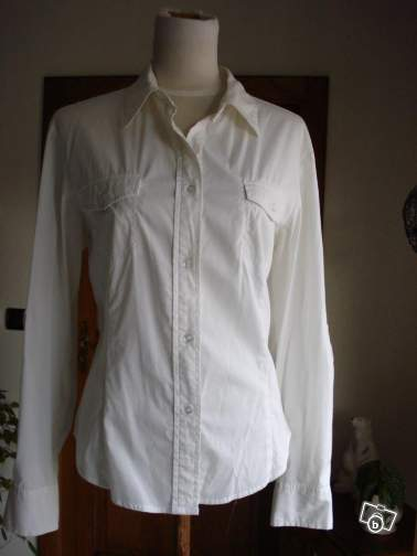 """Chemise-liquette mode """"STREET ONE"""" blanche"""