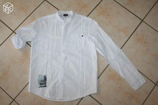 Chemise blanche 10 ans sergent major titi60