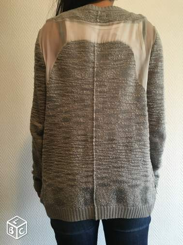 Gilet a zip The Kooples gris taille M/L