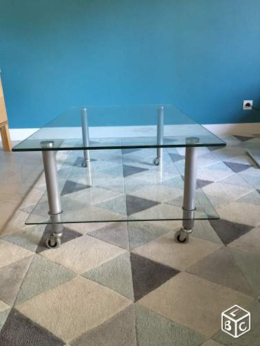 Table basse en verre