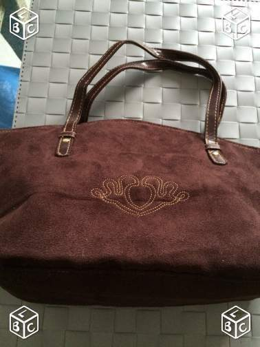 Sac à main velours marron
