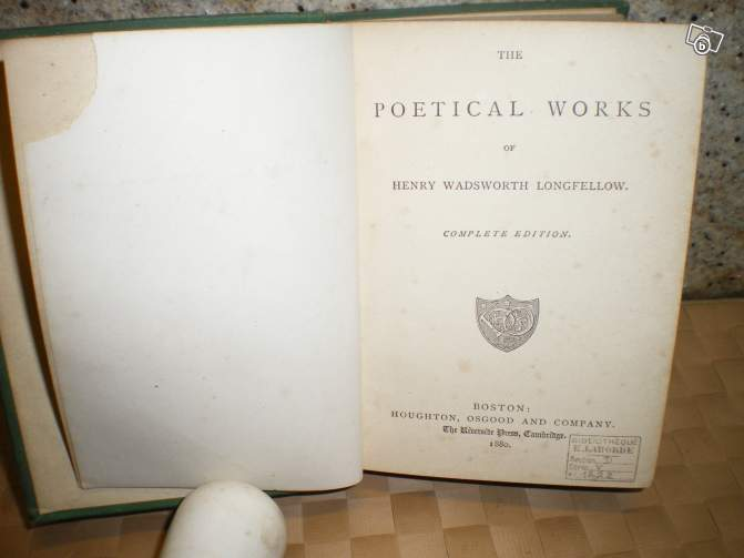 The poetical works of Henry Wadsworth LONGFELLOWS