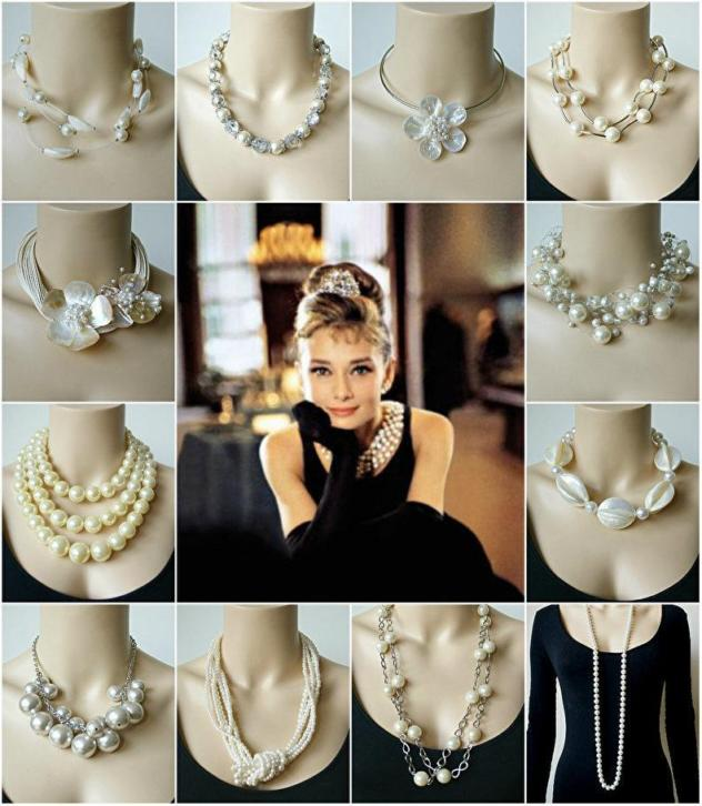 Mooie Grote Statement Ketting - Wit / Creme
