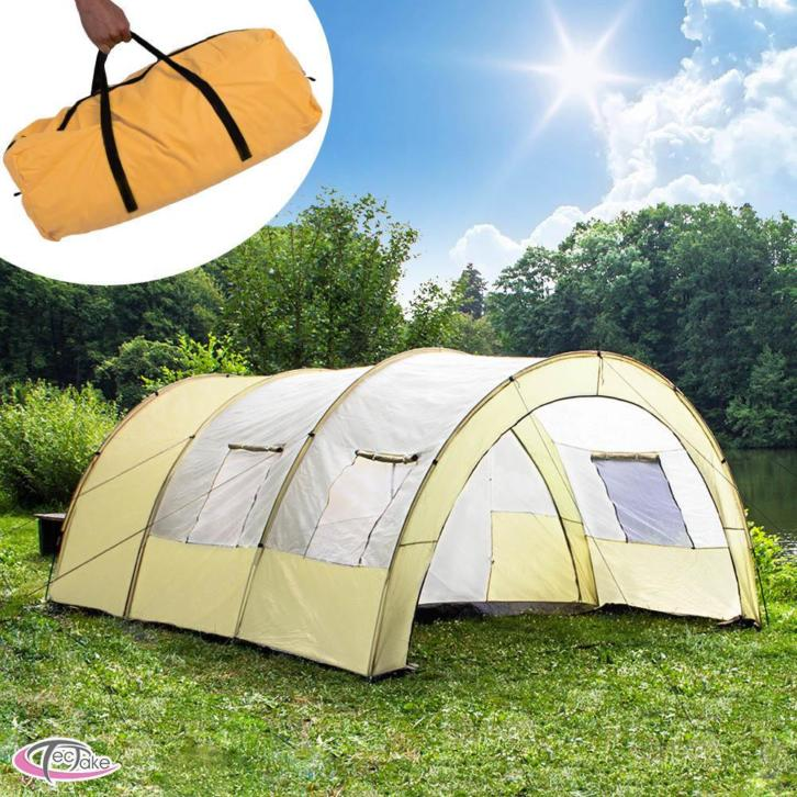 Tunneltent camping tent familietent voor 4-6 persoons 401229
