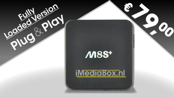 Mediaplayer M8S+ fully loaded € 79.-