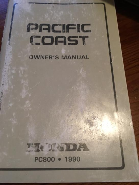 Owner's manual Pacific Coast