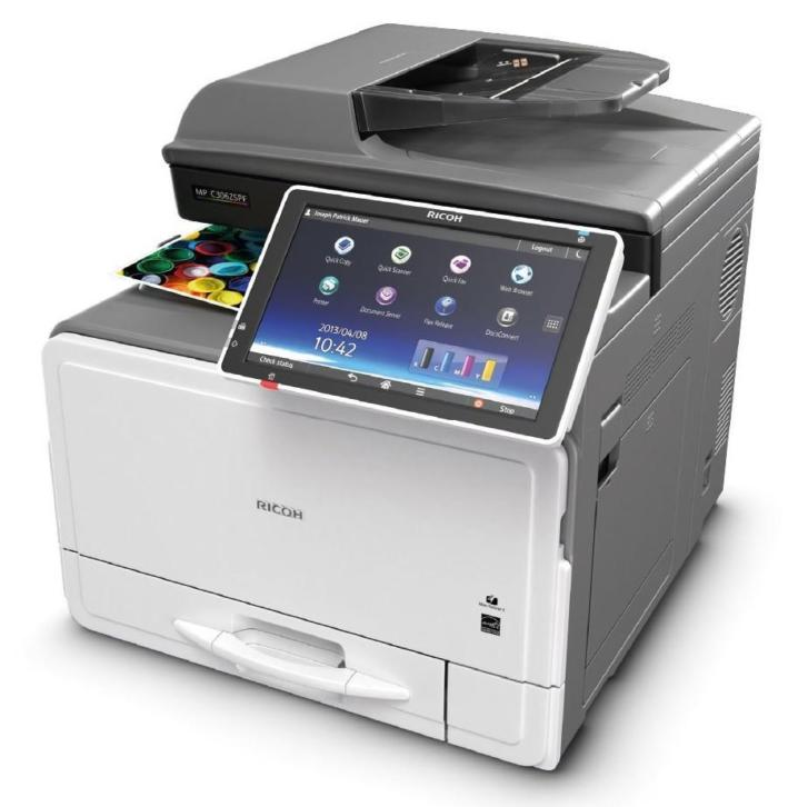Ricoh MPC 306 kleur multifunctional printer kopieerapparaat