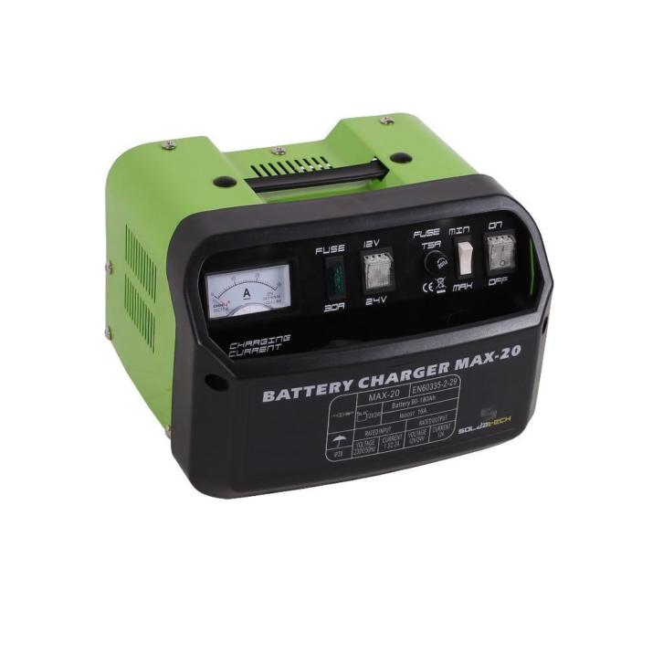 Acculader / Draagbare batterijlader 20A 12/24V SOLDATECH