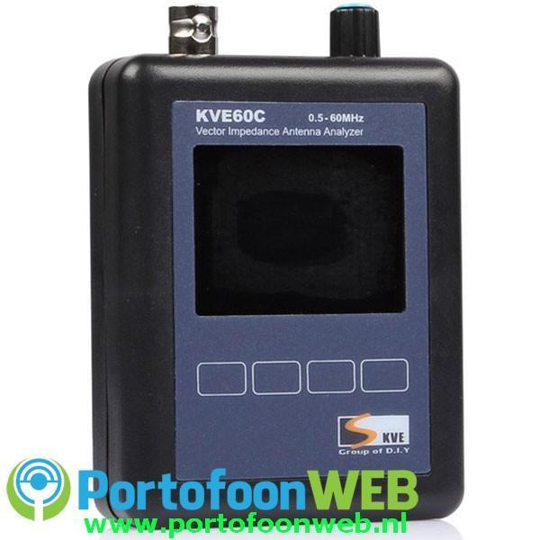 KVE-60C HF+6m Vector Antenne Analyzer met Full color Display