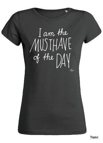 T-shirt the musthave off the day - black