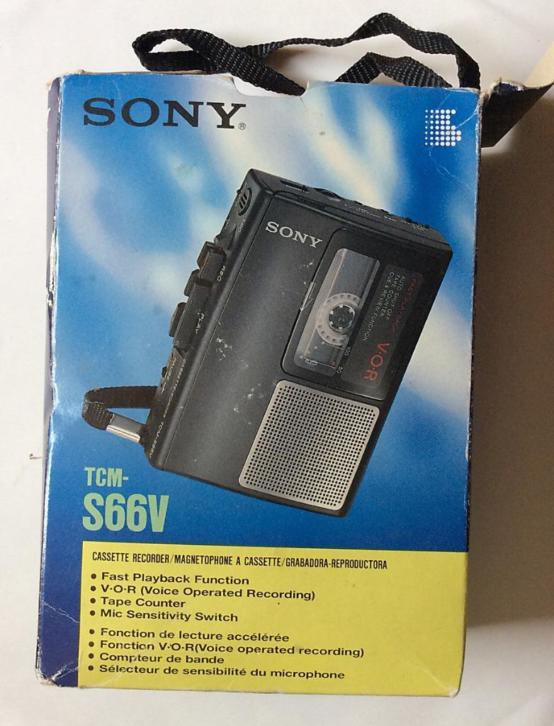vintage walkman Sony TCM-S66V in doos