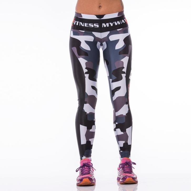 Sportlegging MyWay2Fitness - Earn Your Body - Camo