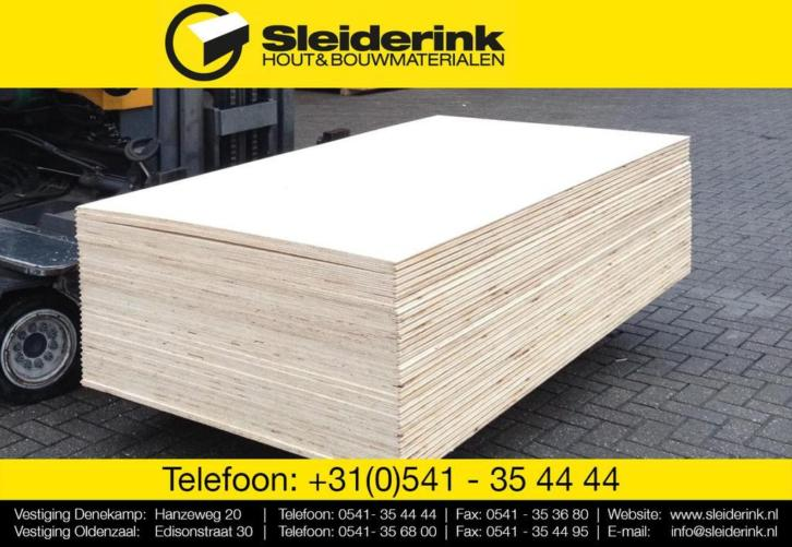 Underlayment platen 18mm - NU 22,49/plaat incl BTW (18 mm)