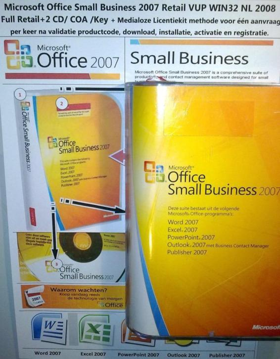 Microsoft Office 2007 Small Business SBE NL Retail x32 2008