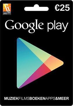 Nederlandse Google Play Gift Card €25 direct op je scherm