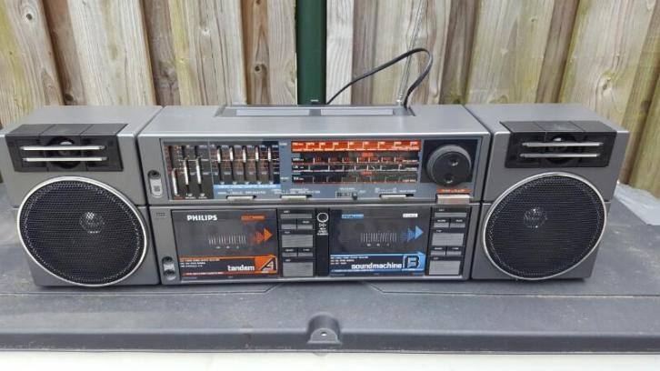 ghettoblaster Philips tandem radio D8458 RETRO