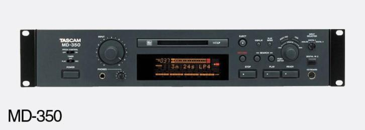 Tascam MD-350 MD speler, TC Electronic Mone XL in flightcas