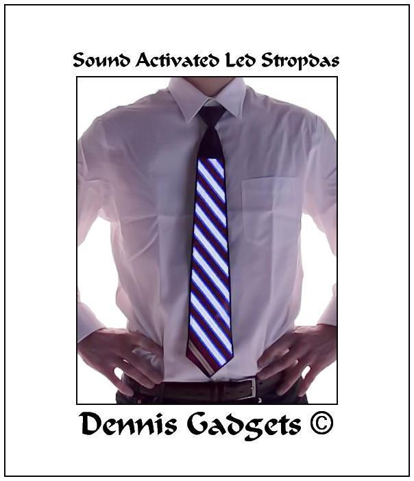 Dennis Gadgets: Sound activated led stropdas in 3 modellen