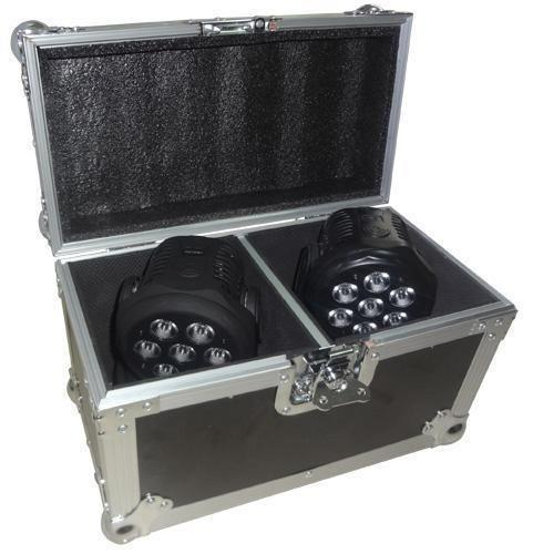 Flight case voor 2 x movingheads LMH350LED,