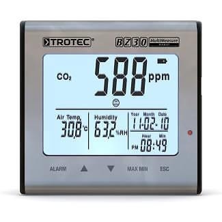 Trotec CO2 luchtkwaliteit datalogger BZ30