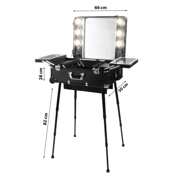 Visagie make up koffer professionele portable trolley mak...