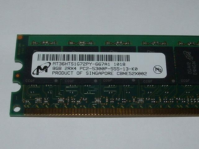 8 GB - PC2-5300P - MT36HTS1G72PY-667A1 met garantie
