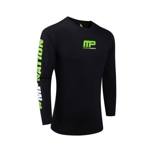 MusclePharm Sportswear Long Sleeve Rashguard Black