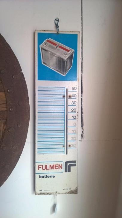 Franse vintage Fulmen reclame thermometer