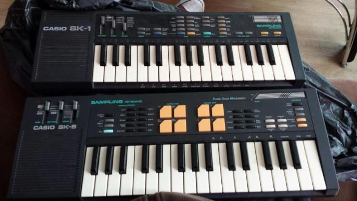 Casio SK-5 & SK-1 vintage sampling keyboards