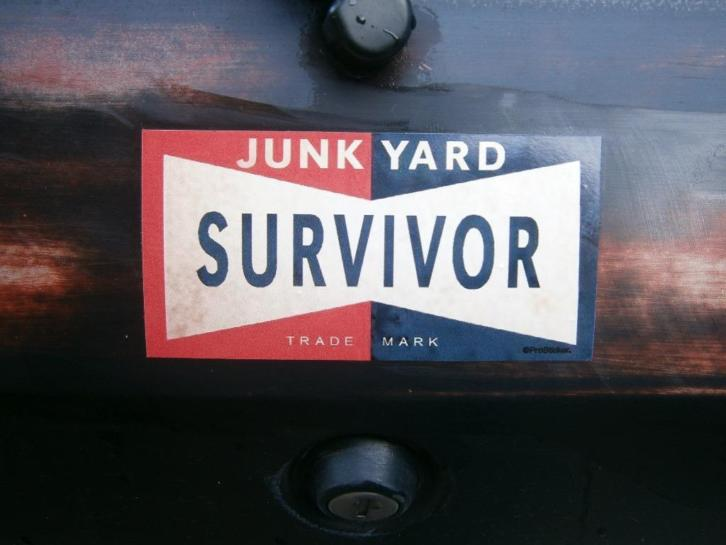 Ratrod & hotrod decals ; junkyard survivor