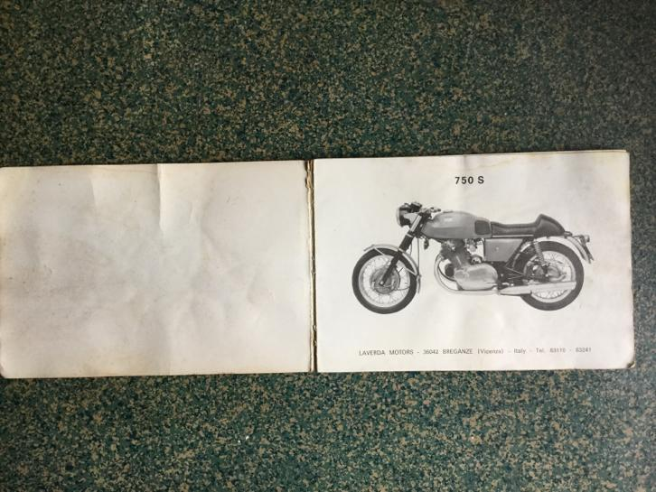 Laverda 750 operation and maintenance manual spare parts