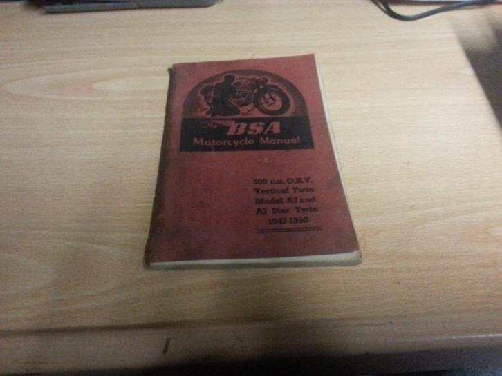 BSA motorcycle manual 500 OHC