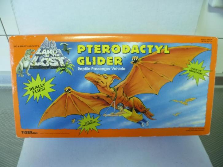 Land of the Lost Pterodactyl Glider Tiger Toys 1992 in doos.