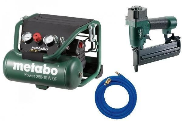 Metabo Set Compressor Power 250-10 w OF + combi tacker DKNG