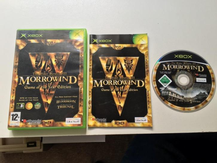 Elder Scrolls III Morrowind Game of the year edition Xbox