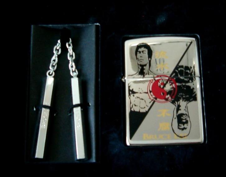 BRUCE LEE Yin Yang Limited Edition Zippo met Nunchucks