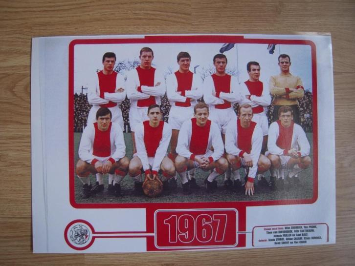 Johan Cruijff in Ajax elftal 1967