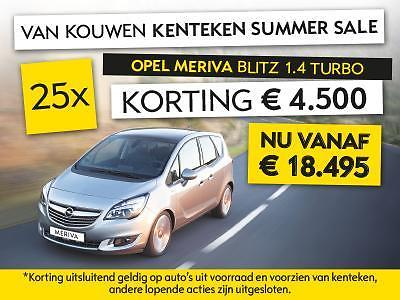 Opel Meriva 1.4 TURBO BLITZ € 4.500 Kenteken Summer Sale