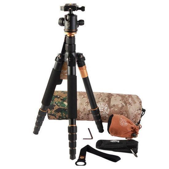 QZSD Q666 15KG Tripod With Q-02 360 Degree Swivel Fluid H...