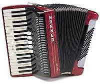 Hohner Amica 72 Bas rood