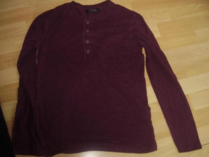 bordeaux rood shirt bershka mt xs