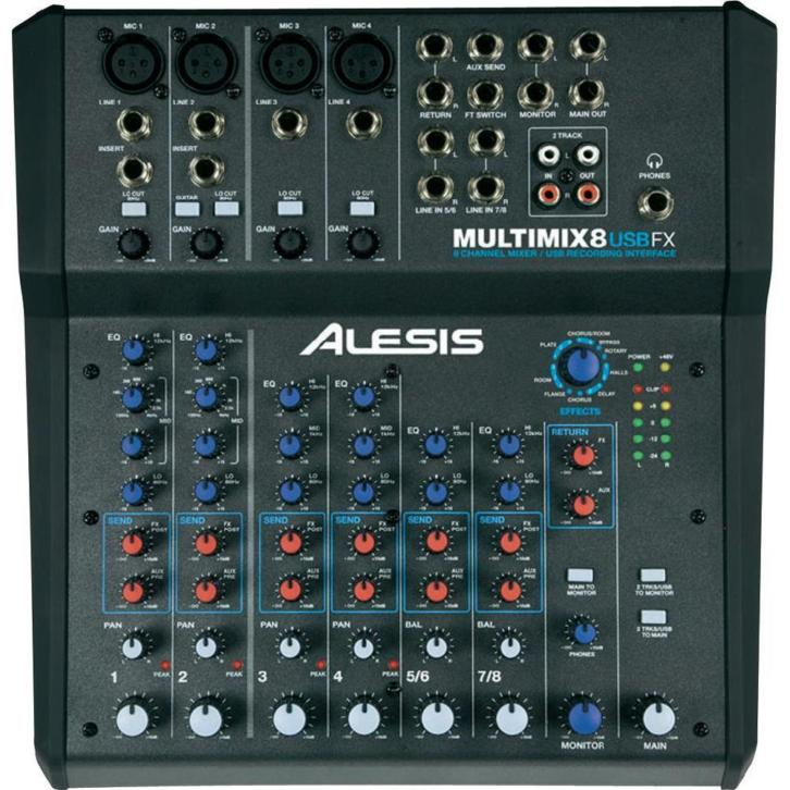 Alesis Multimix 8 USB FX mengpaneel