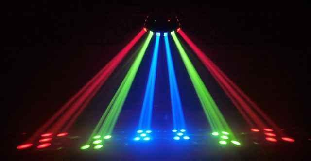 Color beams led lichteffect licht apparatuur