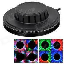 JTA03 8W 48-LED RGB Sound-Activated Sunflower Stage Light
