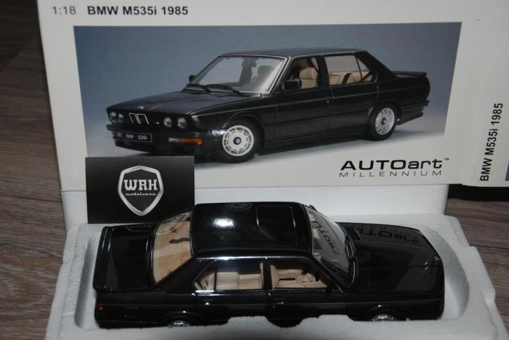 BMW M535i 1985 diamond black Autoart 75162 WRH