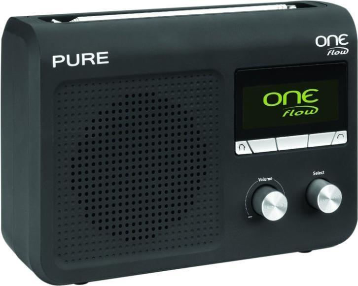 Pure One Flow Zwart radio