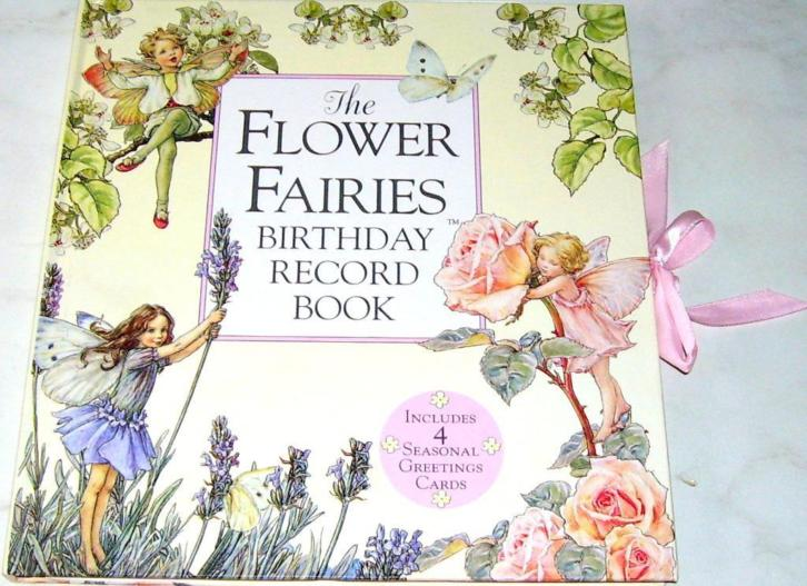 Groot FLOWER FAIRIES - BIRTHDAY RECORD BOOK Hardcover !