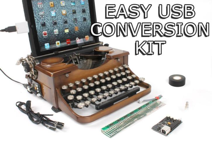 USB Typewriter Easy-Install Conversion Kit Underwood Port...